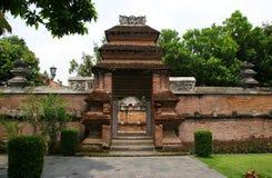 Podwórze wokoło Wielkiego Meczetowego Kotagede, Yogyakarta Zdjęcia Royalty Free