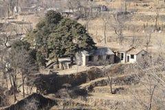 podwórze zaniechana wioska Zdjęcia Stock