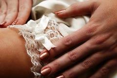podwiązka ślubnych zdjęcia royalty free