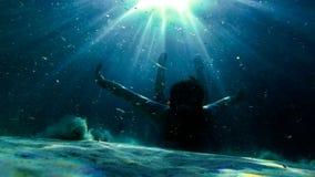 Podwodna eksploracja w raj wyspie zdjęcia royalty free