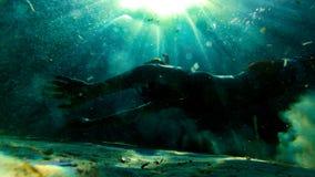 Podwodna eksploracja w raj wyspie obrazy royalty free