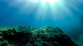 Podwodna eksploracja w raj wyspie obraz stock