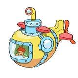 Podwodna kreskówka barwiąca Obraz Royalty Free