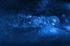Diamentowa i istna jellyfish scena Zdjęcia Royalty Free