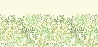 Podwodnego gałęzatka ogródu horyzontalny bezszwowy ilustracja wektor