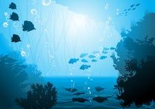 Podwodny świat ilustracji