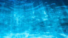Podwodny błękitny tło w morzu z miękkim światłem fotografia royalty free