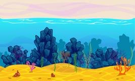 Podwodny bezszwowy krajobraz Fotografia Stock