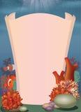 Podwodny krajobraz z pergaminem Zdjęcie Stock