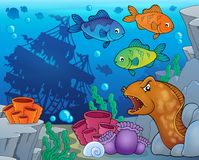 Podwodny ocean faun temat 9 Zdjęcie Stock