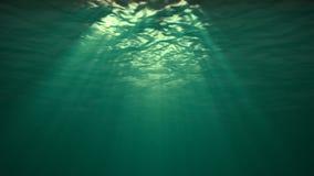 Podwodny odbicie w oceanie ilustracja wektor