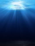 Podwodny sceny tło Obrazy Royalty Free