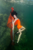 Podwodny striptease Zdjęcia Stock