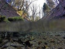 Podwodny strumieniem obraz stock