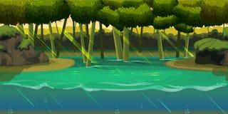 Podwodny tło krajobraz Dla sieć telefonu komórkowego, druk, gemowy projekt Fotografia Royalty Free