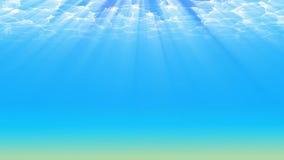 Podwodny tło, 3d ilustracja Zdjęcia Stock
