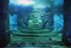 Podwodny tron Obrazy Royalty Free