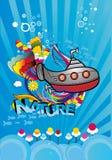 podwodny underwater ilustracji