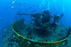 Podwodny wrak, pistolet, Tajlandia Zdjęcie Stock