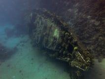 Podwodny wrak w Czerwonym morzu obrazy stock