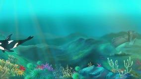 podwodny zabójcy wieloryb ilustracji