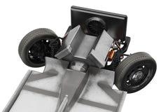 Podwozie ramowy samochód z silnikiem, zamknięty widok Obrazy Royalty Free