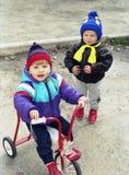 podwórków dzieci, Obrazy Stock