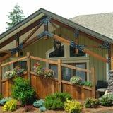 podwórza ogrodowy domu dom Fotografia Royalty Free