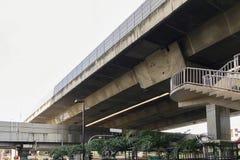 Podwyższony Super autostrady złącze krzyżuje strukturę obraz stock