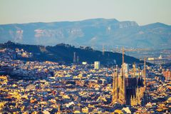 Podwyższony widok Sagrada familia zdjęcia stock