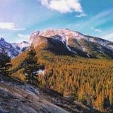 Podwyżka przez Kananaskis gór Zdjęcie Stock