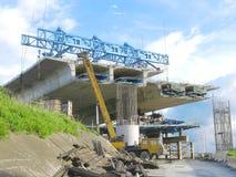 podwyższona budowy droga Obrazy Stock