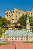 PODZAMCZE, POLEN, 21 Juli 2016, Miniatuurpark bij de voet van het koninklijke kasteel in Ogrodzieniec Stock Afbeeldingen