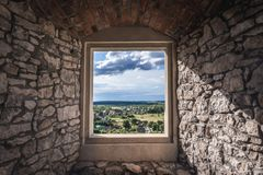 Ogrodzieniec Castle in Poland Stock Photo