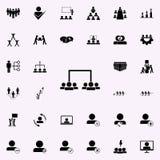 podział pracownicy w drużyny ikonę Prac zespołowych ikon ogólnoludzki ustawiający dla sieci i wiszącej ozdoby ilustracji