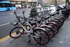 Podzieleni rowery na stronie droga Zdjęcie Stock
