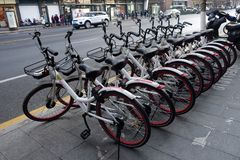 Podzieleni rowery na stronie droga Fotografia Royalty Free