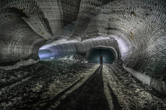 Podziemne kopalnie Ukraina, Donetsk fotografia stock