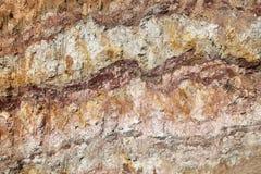 Podziemne warstwy ziemia Piękna tekstura fotografia stock