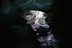 podziemnego cavern hydrogeologiczny tunel Zdjęcia Royalty Free