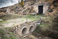 Podziemni wino lochy w Arauzo De Torre, Burgos Obraz Stock