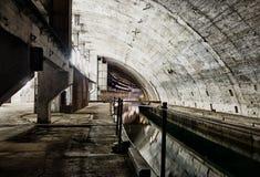 Podziemny bunkier od zimnej wojny Zdjęcia Royalty Free