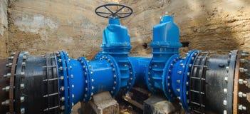 Podziemny dostawa wody system Wielkie klapy n Obrazy Stock