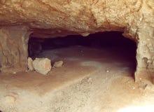 Podziemny jamy wejście Fotografia Royalty Free