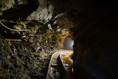 Podziemny kopalnia złota tunelu przejście Fotografia Stock