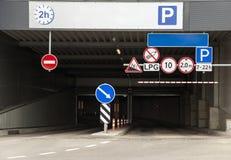 Podziemny parking Zdjęcia Royalty Free
