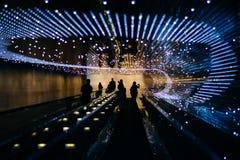 Podziemny poruszający przejście przy national gallery sztuka, w Wa obraz stock