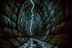 Podziemny tunel chujący od oczu zwyczajni ludzi Obrazy Royalty Free