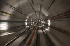 podziemny tunelowy prędkości plamy tło Zdjęcia Stock