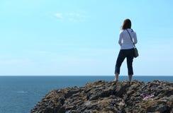 Podziwiać Atlantyckiego ocean Fotografia Stock